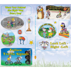 1-4670 Bike Safety Sticker Sheets