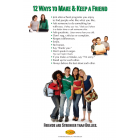 10-3011 &quot;12 Ways to Make a Friend&quot; Bullying Prevention Poster - English     