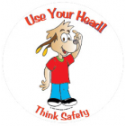 5-1712 Think Safety Stickers - English  
