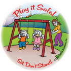 5-1715 Play it Safe Sticker - English