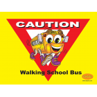 6-3400 Walking School Bus Banner