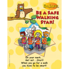 6-4770 Be A Safe Walking Star Large Format Storybook - English