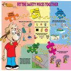 8-3350 I&#039;m Safe! Safety Puzzle Banner - Table Top  