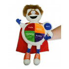 11-4008 MyPlate Nutrition Super Hero Puppet
