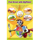 "11-4010 ""My Plate"" Healthy Eating Nuturition Poster - English"