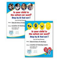 Safe Kids Car Seat Checkup Announcement Posters - Your Choice!