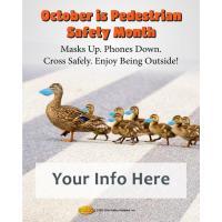 Pedestrian Safety Month Customizable Duck Meme