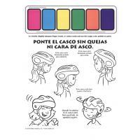 1-2820 I'm Safe! on My Bike Paint Sheet - Spanish