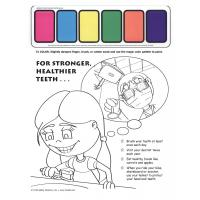 11-5304 For Stronger Healthier Teeth Paint Sheet - English