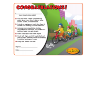 1-1110 I'm Safe! on Wheels Award Certificate - English