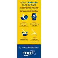 FL2-8020 The Right Car Seat Florida Info-Pledge Card - NHTSA messaging