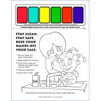 13-1022 I'm Safe! Handwashing Paint Sheet - English