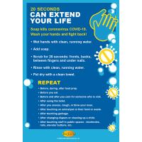 13-1006 20 Seconds Can Extend Your Life Poster