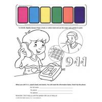 4-1830 I'm Safe! at Home 9-1-1- Paint Sheet - English