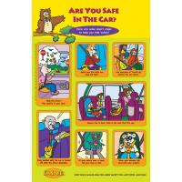 2-1190 I'm Safe! in the Car Poster English