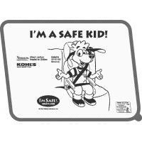 2-2800 I'm A Safe Kid Window Shade