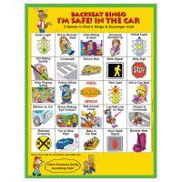 2-3140 I'm Safe! in the Car Backseat Bingo - English