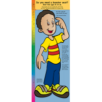 2-3340 Life Size Height Chart Display - Steve