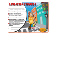 6-2670 I'm Safe! Walk with Me Award Certificate - Spanish