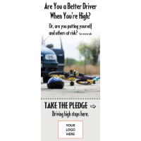 "3-4211 ""Driving high stops here"" Info-Pledge Card"
