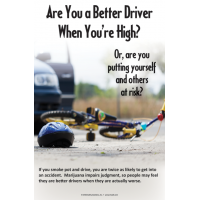 "3-4213 ""Are you a better driver when you're high?"" Poster"