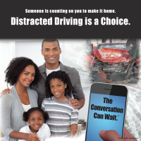 3-6054 Distracted Driving is a Choice - Tabletop Display