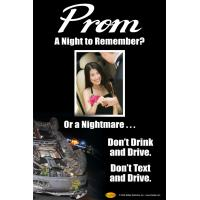3-6071 Prom A Night to Remember Don't Drink Poster