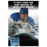 3-6110 Hockey It Only Takes One Message to Crash Your Dreams Poster