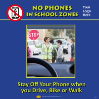 3-6213 No Phones in School Zones - Tabletop Display