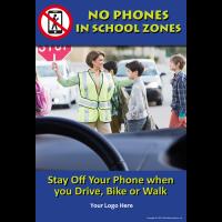 3-6216 No Phones In School Zones Poster