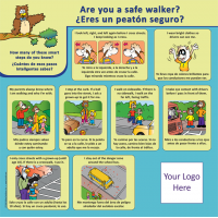 6-3817 Pedestrian Safety Tabletop Display - Bilingual