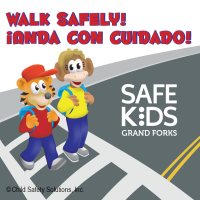Bilingual Walk Safely Stickers