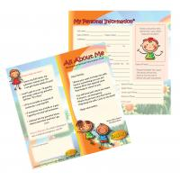 4-1571 All About Me Medical Personal Information Cards - English