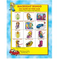 2-3141 I'm Safe! in the Car Backseat Bingo Game Front