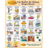 5-1711 I'm Safe! at Home Bingo Game - English  Front