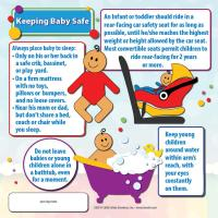 5-3825 Keeping Your Baby Safe Refrigerator Magnet