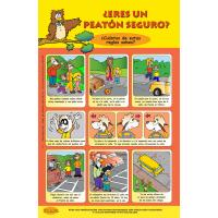 6-2900 Are You A Safe Walker? Poster - Spanish