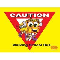 6-3400 Walking School Bus Banner