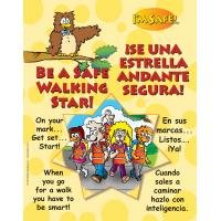 6-4771 Be A Safe Walking Star Large Format Storybook - Bilingual