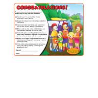 7-1420 Summer Safety Award Certificate - English