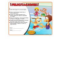 7-4430 I'm Safe! in the Water Award Certificates - Spanish