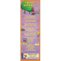 9-1315 I'm Safe! with Pets Bookmark - English