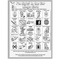 2-3142 Car Safety: Backseat Bingo Single Use Game Front