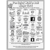 6-3392 Walk 'n Roll Bingo Single Use Game Pads Front
