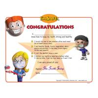 11-5295 Dental Health Award Certificate - English