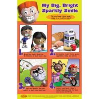 "11-5291 Dental Health Poster: ""My Big, Bright Sparkly Smile"" - English Edition"