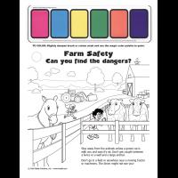 12-1205 Farm Safety Paint Sheet - English