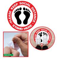 13-1049 Social Distance 6 Feet Apart Floor Decal