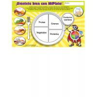 11-4017 Feel Great With MyPlate Placemats - Spanish