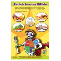 """11-4011 """"My Plate"""" Healthy Eating Nutrition Poster - Spanish"""